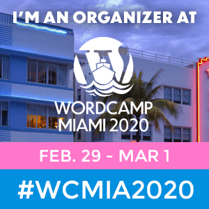 WordCamp Miami 2020 Organizer Badge